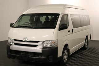 2016 Toyota HiAce KDH223R Commuter High Roof Super LWB French Vanilla 4 speed Automatic Bus.