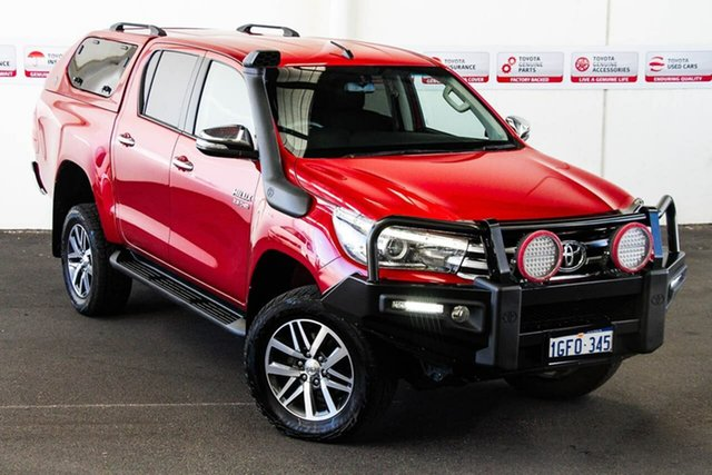 Pre-Owned Toyota Hilux GUN126R SR5 (4x4) Myaree, 2017 Toyota Hilux GUN126R SR5 (4x4) Olympia Red 6 Speed Automatic Dual Cab Utility
