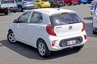 2017 Kia Picanto JA MY18 S White 5 Speed Manual Hatchback.