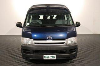 2005 Toyota HiAce TRH223R Commuter High Roof Super LWB Blue 5 speed Manual Bus.