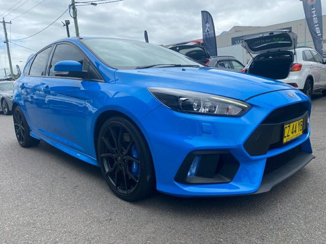 Used Ford Focus LZ RS AWD Cardiff, 2017 Ford Focus LZ RS AWD Blue 6 Speed Manual Hatchback