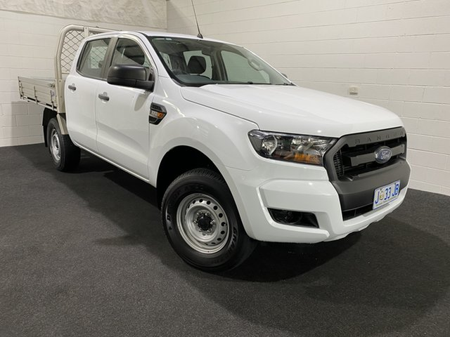 Used Ford Ranger PX MkII XL Hi-Rider Launceston, 2017 Ford Ranger PX MkII XL Hi-Rider Frozen White 6 Speed Sports Automatic Cab Chassis