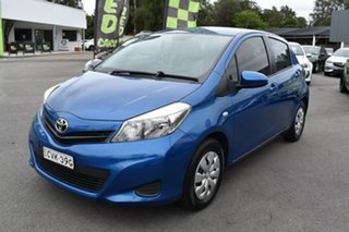 2014 Toyota Yaris NCP130R YR Blue 4 Speed Automatic Hatchback