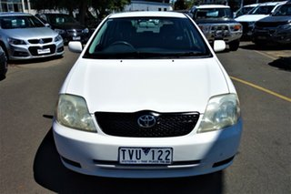 2003 Toyota Corolla ZZE122R Ascent White 4 Speed Automatic Hatchback