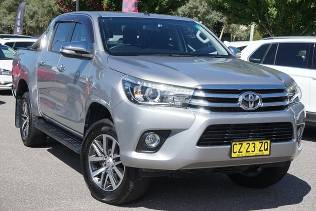 Used Toyota Hilux GUN126R SR5 Double Cab Phillip, 2016 Toyota Hilux GUN126R SR5 Double Cab Grey 6 Speed Manual Utility