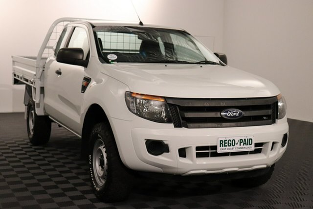 Used Ford Ranger PX XL Hi-Rider Acacia Ridge, 2014 Ford Ranger PX XL Hi-Rider White 6 speed Automatic Cab Chassis