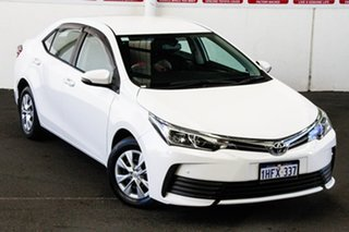 2017 Toyota Corolla ZRE172R MY17 Ascent Glacier White 7 Speed CVT Auto Sequential Sedan.
