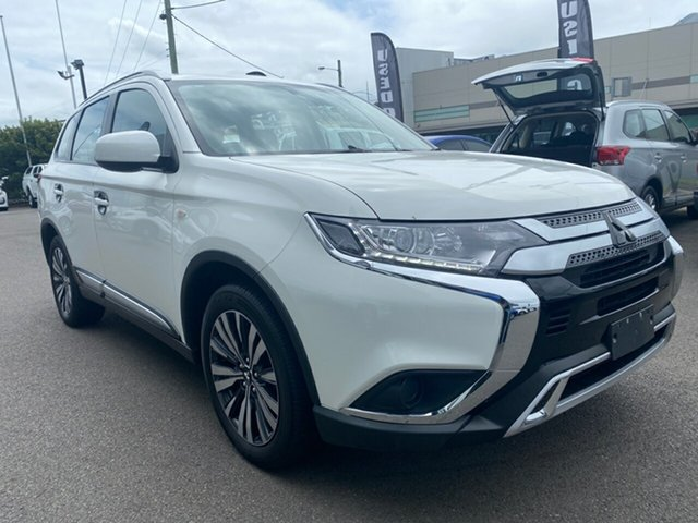 Used Mitsubishi Outlander ZL MY19 ES AWD Cardiff, 2018 Mitsubishi Outlander ZL MY19 ES AWD White 6 Speed Constant Variable Wagon