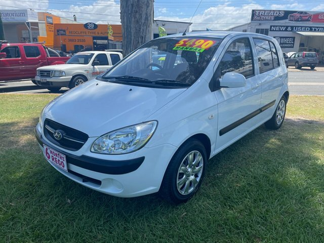 Used Hyundai Getz TB MY09 SX Clontarf, 2010 Hyundai Getz TB MY09 SX White 5 Speed Manual Hatchback