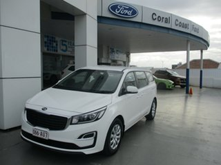 2018 Kia Carnival YP PE MY19 S White 8 Speed Automatic Wagon.