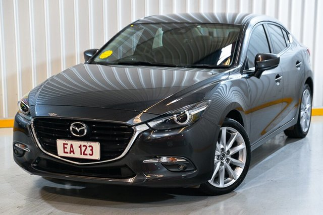Used Mazda 3 BN MY17 SP25 GT Hendra, 2017 Mazda 3 BN MY17 SP25 GT Grey 6 Speed Manual Sedan