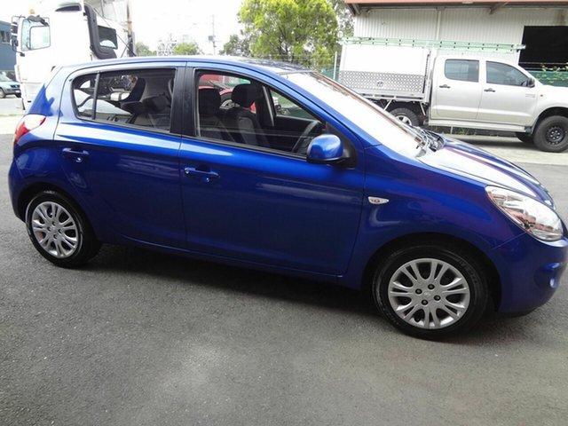 Used Hyundai i20 PB MY11 Active Coopers Plains, 2011 Hyundai i20 PB MY11 Active Blue 5 Speed Manual Hatchback