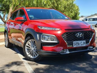 2017 Hyundai Kona OS MY18 Elite D-CT AWD Red 7 Speed Sports Automatic Dual Clutch Wagon.