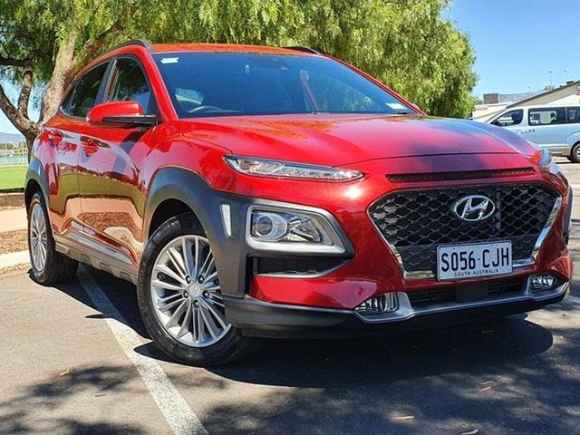 Used Hyundai Kona OS MY18 Elite D-CT AWD Nailsworth, 2017 Hyundai Kona OS MY18 Elite D-CT AWD Red 7 Speed Sports Automatic Dual Clutch Wagon