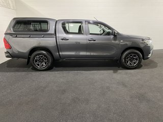 2017 Toyota Hilux TGN121R Workmate Double Cab 4x2 Grey 5 Speed Manual Utility.