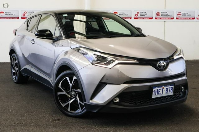 Pre-Owned Toyota C-HR NGX10R Koba S-CVT 2WD Rockingham, 2018 Toyota C-HR NGX10R Koba S-CVT 2WD Shadow Platinum & Black Roof 7 Speed Constant Variable Wagon