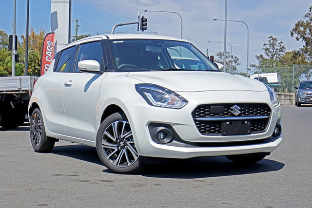 Demo Suzuki Swift AZ Series II GLX Turbo Ebbw Vale, 2020 Suzuki Swift AZ Series II GLX Turbo Pure White Pearl 6 Speed Sports Automatic Hatchback