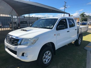 2013 Toyota Hilux KUN26R MY12 SR (4x4) White 5 Speed Manual Dual Cab Chassis.