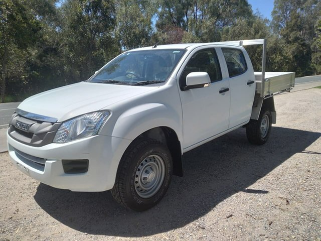 Used Isuzu D-MAX MY15.5 SX Crew Cab 4x2 High Ride Wodonga, 2016 Isuzu D-MAX MY15.5 SX Crew Cab 4x2 High Ride White 5 Speed Sports Automatic Cab Chassis