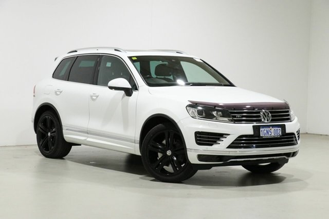Used Volkswagen Touareg 7P MY17 V8 TDI R-Line Bentley, 2017 Volkswagen Touareg 7P MY17 V8 TDI R-Line White 8 Speed Automatic Wagon