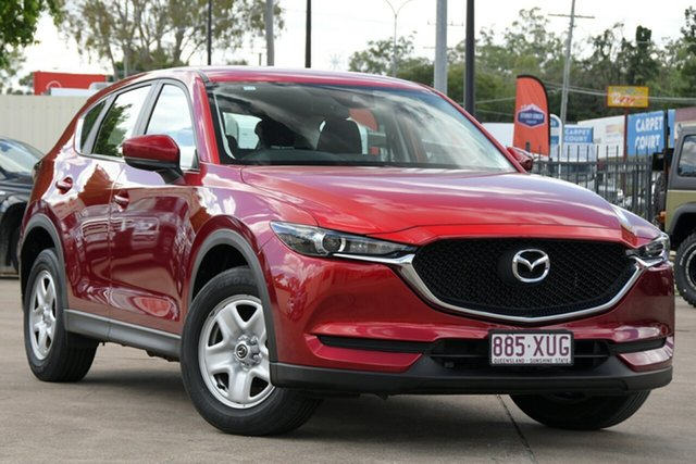 Used Mazda CX-5 KF2W76 Maxx SKYACTIV-MT FWD Bundamba, 2017 Mazda CX-5 KF2W76 Maxx SKYACTIV-MT FWD Soul Red Crystal 6 Speed Manual Wagon