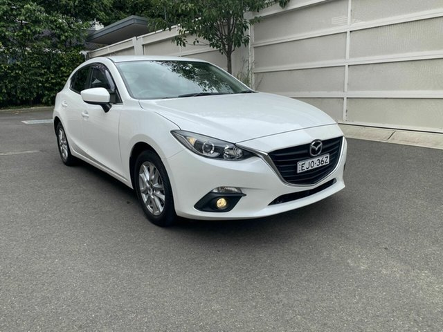 Used Mazda 3 BM5478 Maxx SKYACTIV-Drive Zetland, 2015 Mazda 3 BM5478 Maxx SKYACTIV-Drive White 6 Speed Sports Automatic Hatchback