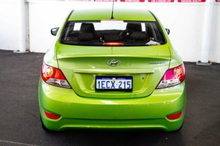 2013 Hyundai Accent RB Active Green 4 Speed Automatic Sedan