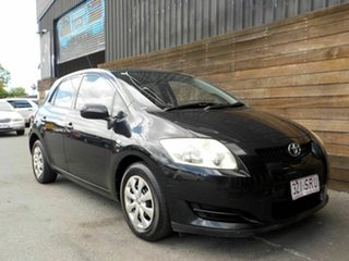 2007 Toyota Corolla ZZE122R 5Y Ascent Black 5 Speed Manual Hatchback.