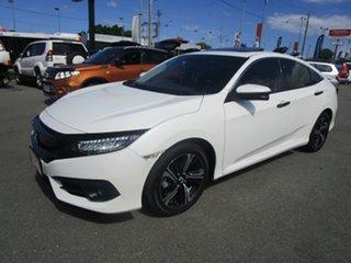 2018 Honda Civic 10th Gen MY18 RS White 1 Speed Constant Variable Sedan.