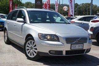 2004 Volvo V50 MY04 Silver 5 Speed Automatic Wagon.