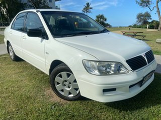 2003 Mitsubishi Lancer CG ES White 4 Speed Automatic Sedan.