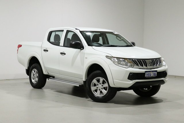 Used Mitsubishi Triton MQ MY16 GLX (4x4) Bentley, 2015 Mitsubishi Triton MQ MY16 GLX (4x4) White 6 Speed Manual Dual Cab Utility
