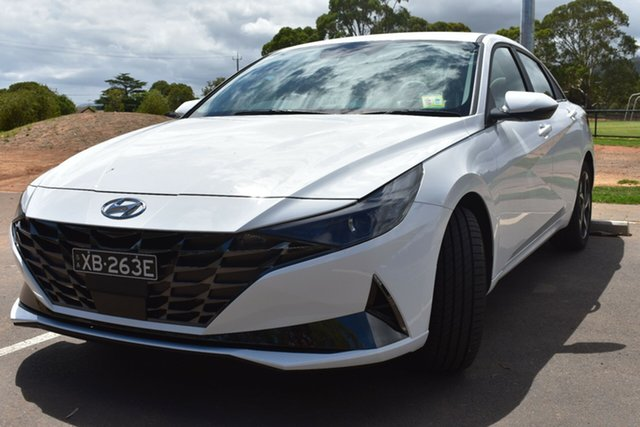Demo Hyundai i30 CN7.V1 MY21 Elite St Marys, 2020 Hyundai i30 CN7.V1 MY21 Elite Polar White 6 Speed Sports Automatic Sedan