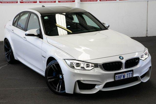 Pre-Owned BMW M3 F80 MY15 Rockingham, 2015 BMW M3 F80 MY15 White 7 Speed Auto Dual Clutch Sedan