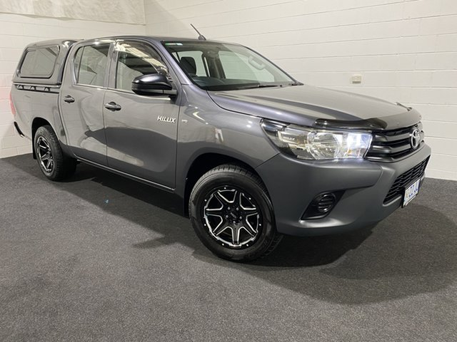 Used Toyota Hilux TGN121R Workmate Double Cab 4x2 Glenorchy, 2017 Toyota Hilux TGN121R Workmate Double Cab 4x2 Grey 5 Speed Manual Utility
