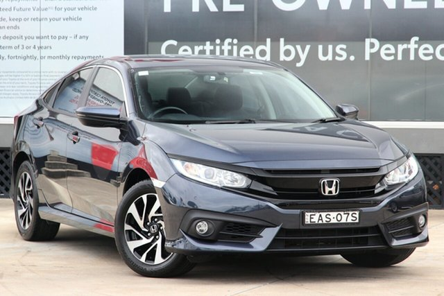 Pre-Owned Honda Civic 10th Gen MY18 VTi-S Luxe Guildford, 2018 Honda Civic 10th Gen MY18 VTi-S Luxe Cosmic Blue 1 Speed Constant Variable Sedan