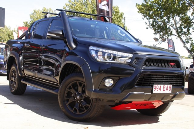Used Toyota Hilux GUN126R SR5 Double Cab Toowoomba, 2017 Toyota Hilux GUN126R SR5 Double Cab Black 6 Speed Manual Utility