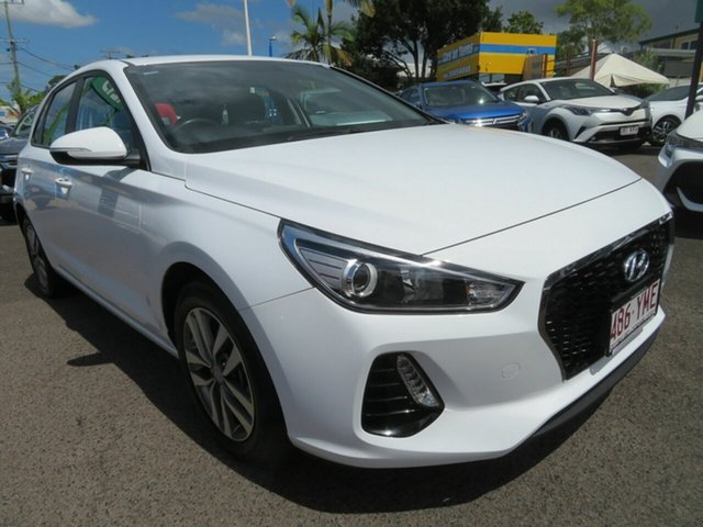 Used Hyundai i30 PD MY18 Active Mount Gravatt, 2018 Hyundai i30 PD MY18 Active White 6 Speed Sports Automatic Hatchback