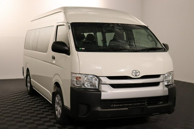 Used Toyota HiAce KDH223R Commuter High Roof Super LWB Acacia Ridge, 2016 Toyota HiAce KDH223R Commuter High Roof Super LWB French Vanilla 4 speed Automatic Bus