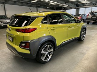 2017 Hyundai Kona OS MY18 Highlander 2WD Yellow 6 Speed Sports Automatic Wagon.