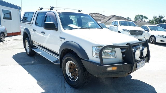 Used Ford Ranger PJ XL Crew Cab St James, 2008 Ford Ranger PJ XL Crew Cab White 5 Speed Automatic Utility