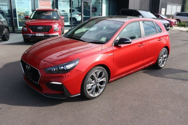 New Hyundai i30 PD.V4 MY21 N Line D-CT Premium Augustine Heights, 2020 Hyundai i30 PD.V4 MY21 N Line D-CT Premium Lava Orange 7 Speed Sports Automatic Dual Clutch