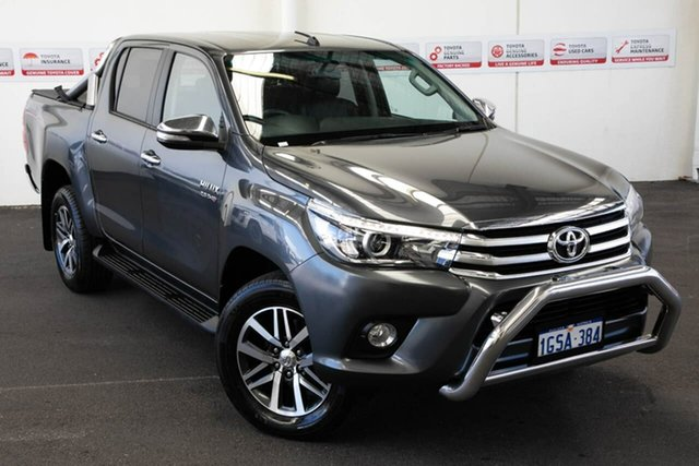 Pre-Owned Toyota Hilux GUN126R SR5 Double Cab Myaree, 2016 Toyota Hilux GUN126R SR5 Double Cab Graphite 6 Speed Sports Automatic Utility