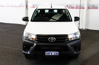 2016 Toyota Hilux TGN121R Workmate Glacier White 6 Speed Automatic Dual Cab Utility.