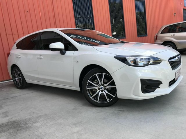 Used Subaru Impreza G5 MY17 2.0i CVT AWD Molendinar, 2017 Subaru Impreza G5 MY17 2.0i CVT AWD White 7 Speed Constant Variable Hatchback