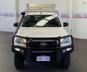 2019 Toyota Hilux GUN126R SR Extra Cab Glacier White 6 Speed Manual Cab Chassis.