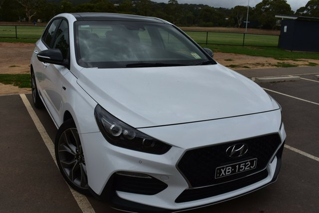 Demo Hyundai i30 PD.V4 MY21 N Line D-CT Premium St Marys, 2020 Hyundai i30 PD.V4 MY21 N Line D-CT Premium Polar White 7 Speed Sports Automatic Dual Clutch