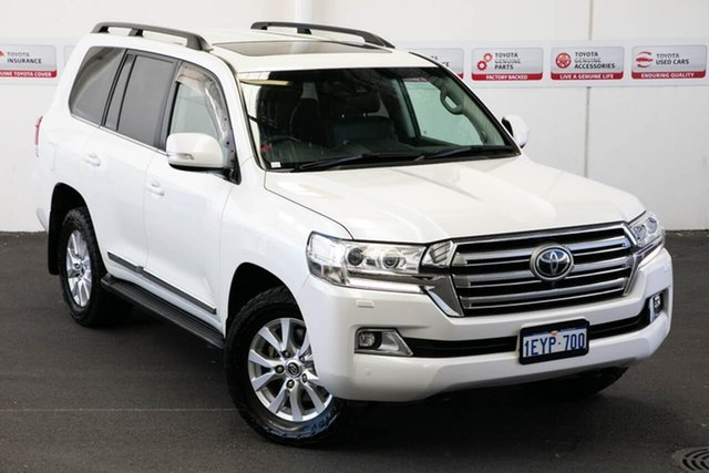 Pre-Owned Toyota Landcruiser VDJ200R MY16 Sahara (4x4) Myaree, 2015 Toyota Landcruiser VDJ200R MY16 Sahara (4x4) Crystal Pearl 6 Speed Automatic Wagon