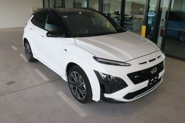 New Hyundai Kona Os.v4 MY21 Augustine Heights, 2020 Hyundai Kona Os.v4 MY21 Atlas White Black Roof 7 Speed Sports Automatic Dual Clutch Wagon