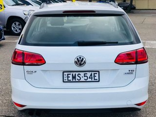 2015 Volkswagen Golf VII MY15 90TSI DSG White 7 Speed Sports Automatic Dual Clutch Wagon
